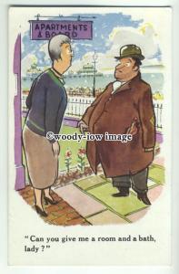 su2501 -  Can you Give Me a Room & a Bath, Lady? Seaside - Postcard - Tuck's