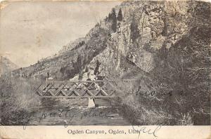 Ogden Utah 1909 Postcard Ogden Canyon Bridge