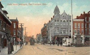 LPS83 EAST LIVERPOOL Columbiana County Ohio Sixth Street looking East Postcard