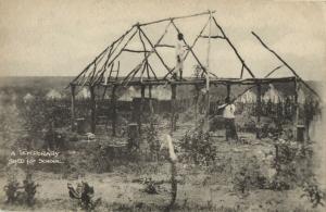 angola, KAPANGO, Bihe District, Temporary Shed for School (1930s) Postcard