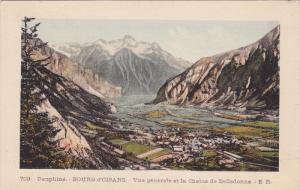 Dauphine, BOURG d'OISANS, Vue generale et la Chaine de Belladonne, Isere, Fra...