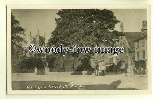 tp0051 - Cambs - The All Saint's Church at Huntingdon c1950 -  postcard