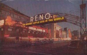 Nevada Reno Reno Arch At Night