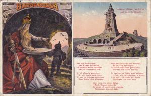 Denkmal Kaiser Wilhelm I auf dem Kyffhaeuser Germany 1930