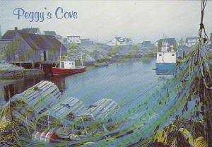 Canada Nova Scotia Misty Morning Peggys Cove