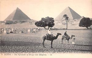 Egypt, Egypte, Africa Pyramids of Kheops and Kheptren  Pyramids of Kheops and...