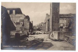 Italy Pompei Strada Stabiana Ruins RPPC Real Photo