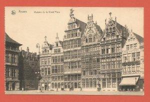 OLD POSTCARD – ANTWERP, BELGIUM – MARKET SQUARE – REAL PHOTO POSTCARD 1910