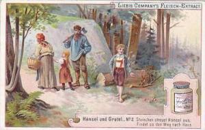 Liebig Vintage Trade Card S479 Hansel & Gretel No 2 Steinchen Streuet Hansel aus