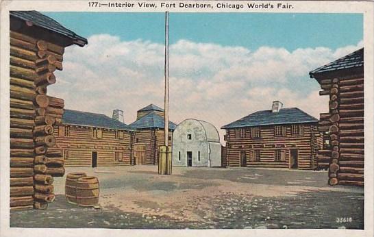 Interior View Fort Dearborn Chicago World's Fair 1933-34