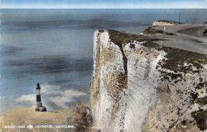 Vintage Real Photo Postcard Beachy Head and Lighthouse, Eastbourne #223