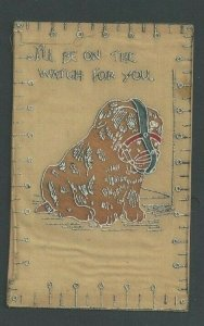 1908 Post Card Humor Muzzled Bulldog Ill Be On The Watch For You