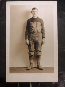 Mint USA RPPC Postcard Football Player