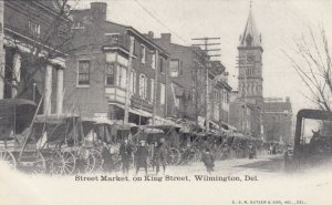 WILMINGTON , Delaware , 1901-07 ; Street Market on King Street