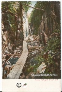 Pre1907 Undivided Back Postcard, Franconia Notch New Hampshire The Flume Boulder
