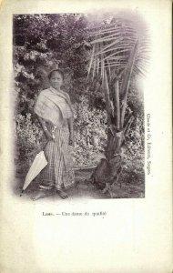indochina, LAOS, Une Dame de Qualité, Native Woman (1899) Postcard
