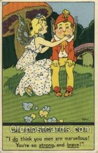 The First Fairy Tales Nursery Rhyme Postcard Post Card Old Vintage Antique Ar...