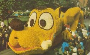 Pluto Walt Disney Dog In Lincolnshire Spalding Flower Parade Postcard