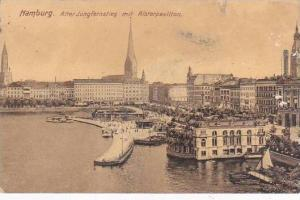 Germany Hamburg Alter Jungfernstieg mit Alsterpavillon