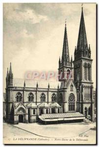 Old Postcard The Delivrande Our Lady of Delivrande
