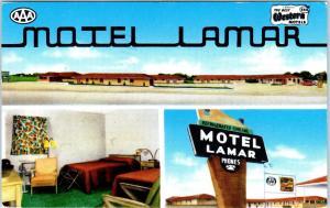 LAMAR, CO Colorado    MOTEL LAMAR  1955   Roadside  Multiview  Postcard