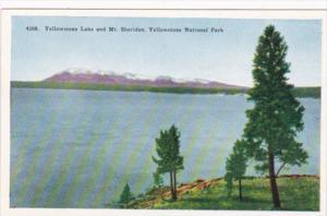 Yellowstone Lake and Mount Sheridan Yellowstone National Park