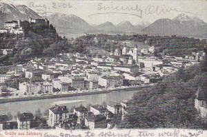 Grusse Aus SALZBURG, Austria, PU-1906