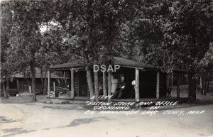 C28/ Seney Michigan Mi RPPC Postcard 1947 Big Manistique Lake Gronland Store