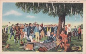 Surrender Of Santa Anna 22 April 1836 Curteich