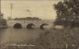 Dedham MA Ames St. Bridge c1910 Real Photo Postcard