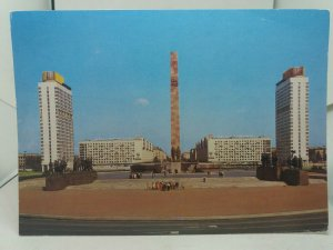 Vintage Postcard Leningrad Monument to the Heroic Defenders on Victory Square