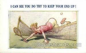No. 13560 Bamforth Co., N.Y., USA Tennis, Old Vintage Antique, Post Card Post...
