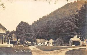 Plymouth Union VT Town View RPPC Postcard