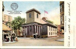 Massachusetts Boston King's Chapel Boston Rubber Shoe Company