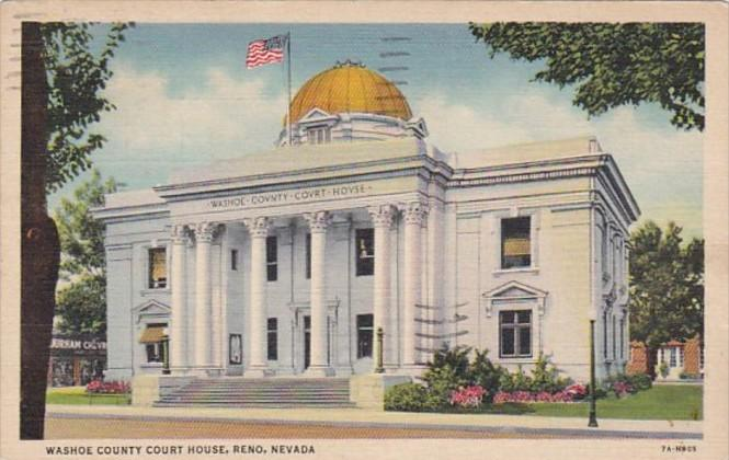Nevada Reno Washoe County Court House 1939 Curteich