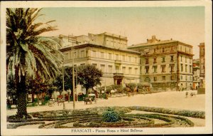 IMV00982 frascati piazza roma e hotel bellevue chariot  italy