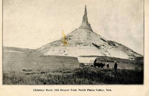 NE - North Platte. Ezra Meeker. Chimney Rock