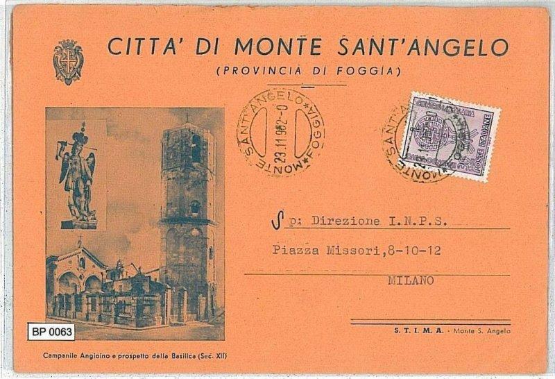 CARTOLINA Epoca BUSTA COMUNALE - FOGGIA: MONTE S ANGELO