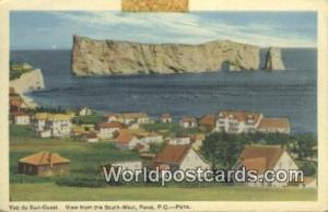 Perce, PQ Canada, du Canada Vue du Sud Ouest, South-West  Vue du Sud Ouest, S...