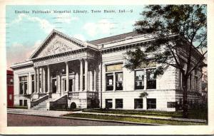 Emeline Fairbanks Memorial Library Terre Haute Indiana 1922