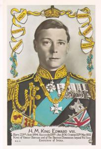King Edward VIII Medal Uniform New Zealand Tampex 1986 Exhibition Postcard