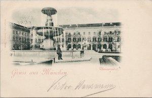 Gruss München Universität Munich Germany University 1897 Königreich Postcard G81