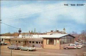 Woodbridge NJ Reo Diner Roadside Vintage 1950s Cars Postcard