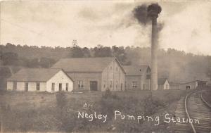 E70/ Negley Ohio RPPC Postcard Columbiana County 1910 Pumping Station