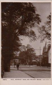 RP: HULL , Yorkshire , UK , 00-10s ; Beverly Road & Railway Bridge