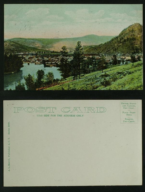 View of Grand Forkes BC  c 1910