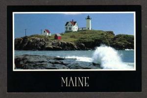 ME Nubble Lighthouse Cape Neddick YORK MAINE Postcard