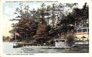 Refreshment Booth & Boat Landing in Hamilton & Wenham, Massachusetts