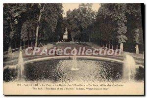 Postcard Old St Cloud Park Basin three Bouillons