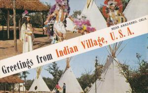 Indian Girl Givin a Tour of Tipis, Indians Dancing, Indian City, ANADARKO, Ok...